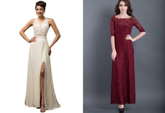 шикарные длинные вечерние платья