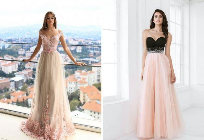 шифоновые длинные вечерние платья