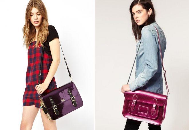 женские лаковые сумки