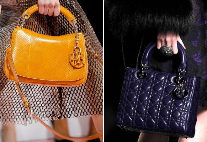 лаковые сумки Диор