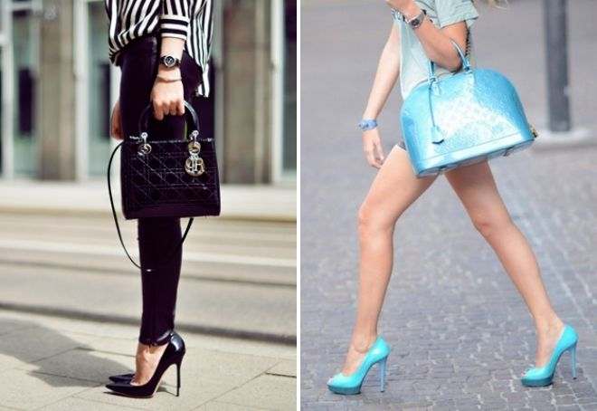 лаковая сумка с чем носить