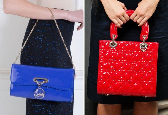 модные женские лаковые сумки
