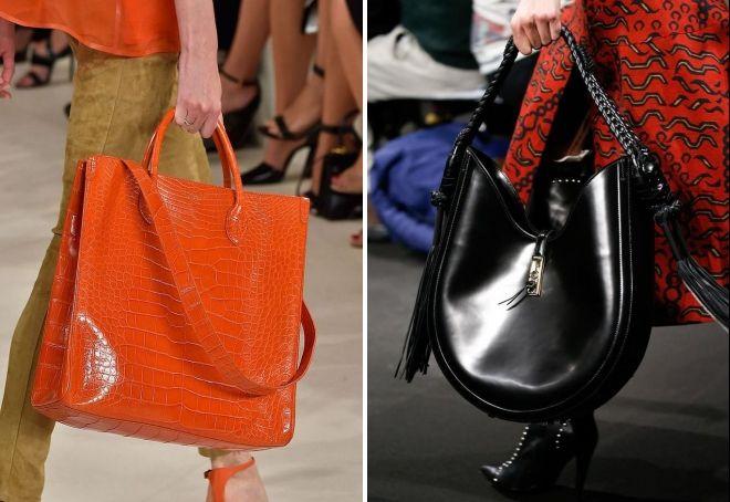 лаковая большая сумка
