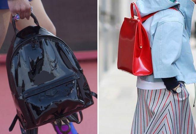 стильные лаковые сумки