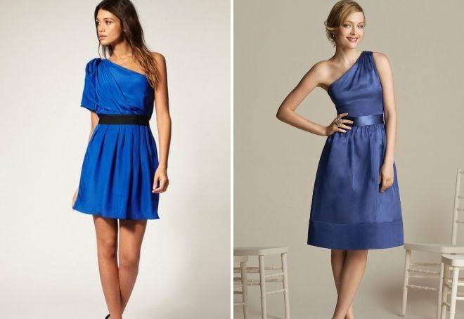 синее платье на свадьбу в качестве гостя
