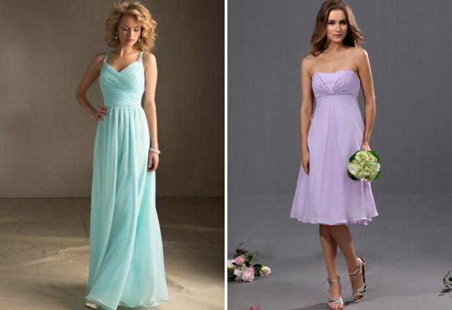 цвет платья на свадьбу для гостей