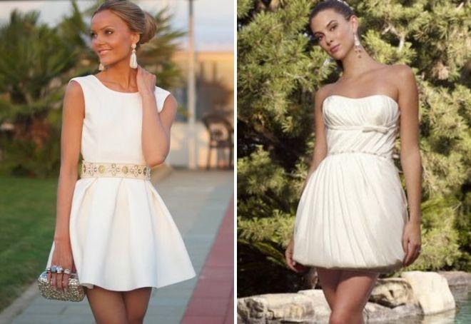 белое платье на свадьбе у гостей