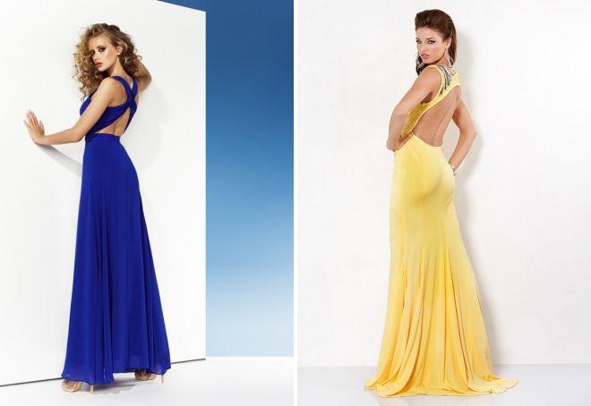 шелковое платье с открытой спиной