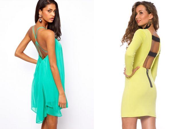 летнее платье с открытой спиной