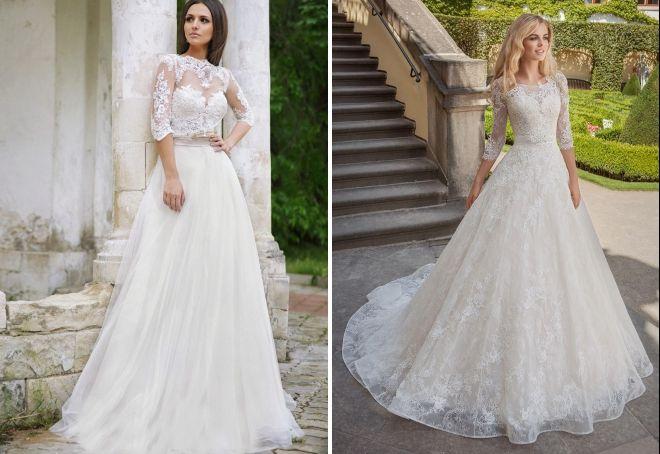 свадебные платья закрытого типа
