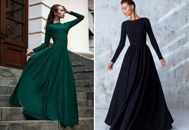 закрытое платье в пол