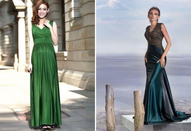 зеленое летнее платье в пол