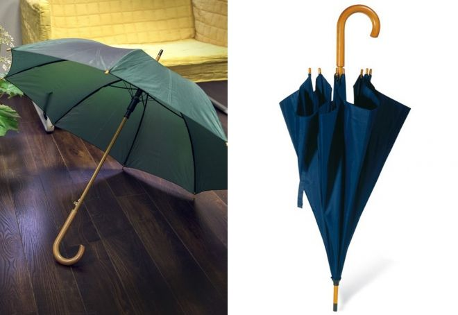 canne parapluie avec manche en bois