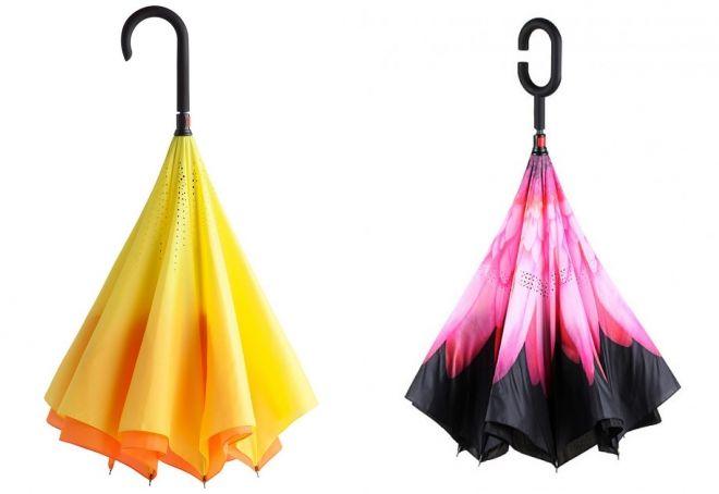 зонт трость наоборот