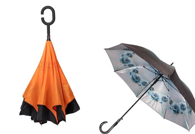двусторонний зонт трость