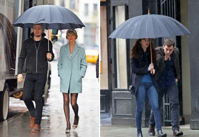 семейный зонт трость