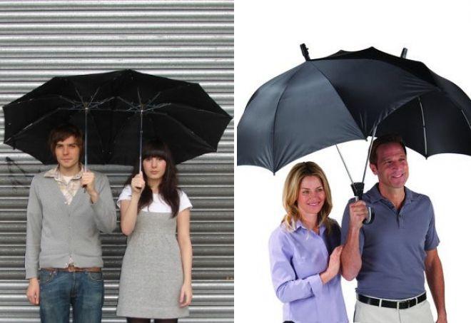 canne parapluie pour deux