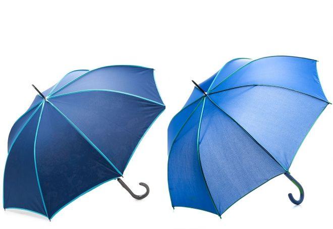 canne parapluie bleue