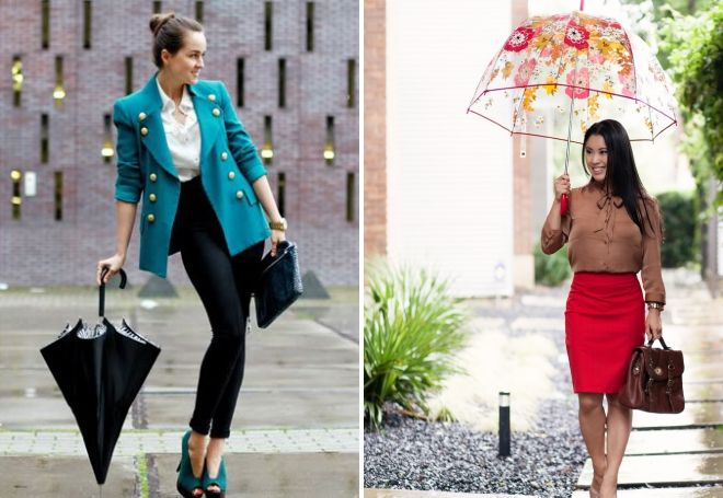женский зонт трость как часть образа