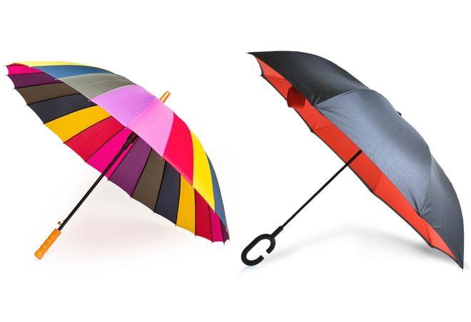 женский зонт трость