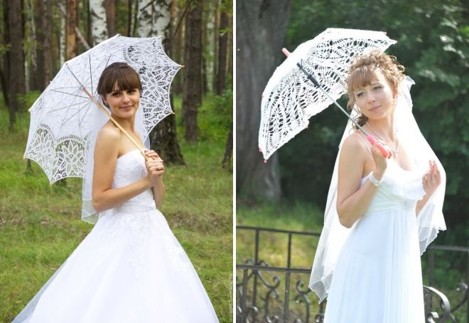 canne parapluie blanche