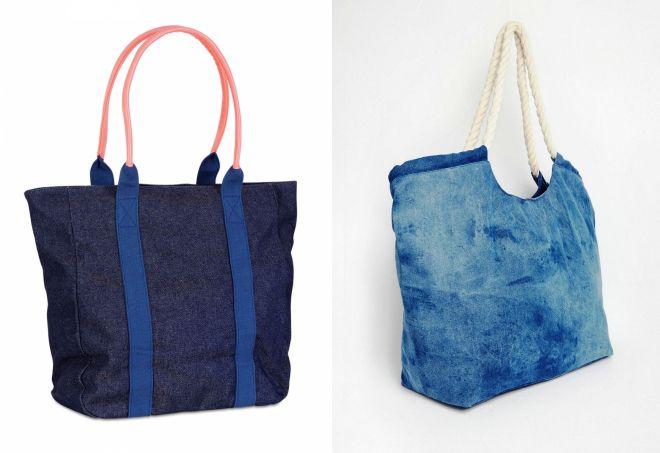 sac de plage en jean