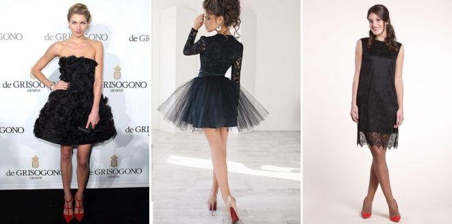 Туфли к черному кружевному платью