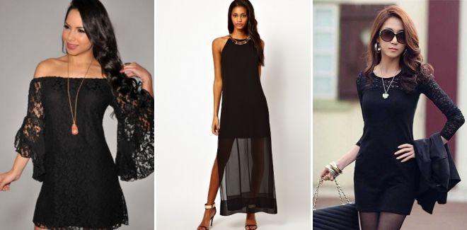 Аксессуары к черному кружевному платью