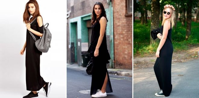 Обувь к длинному черному платью