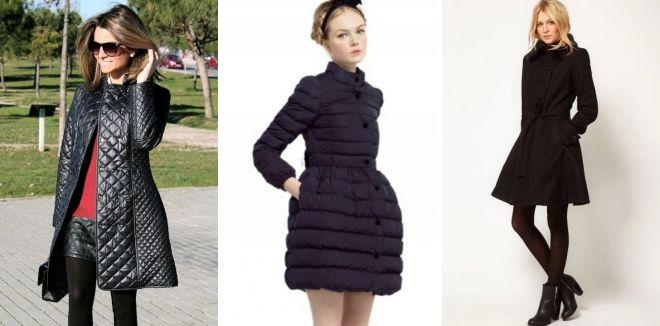 Стеганое расклешенное пальто