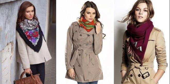 С чем носить расклешенное пальто