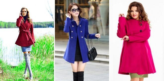 Короткое расклешенное пальто