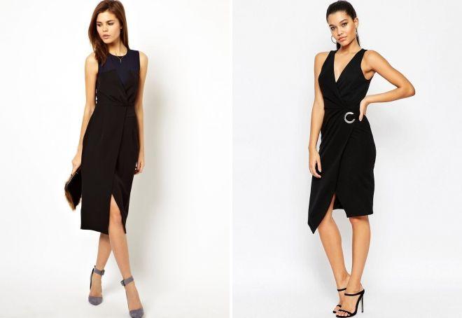 черное платье-футляр фасоны