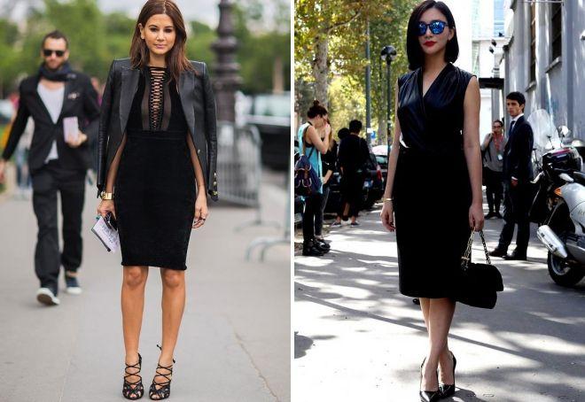 образы с черным платьем-футляр