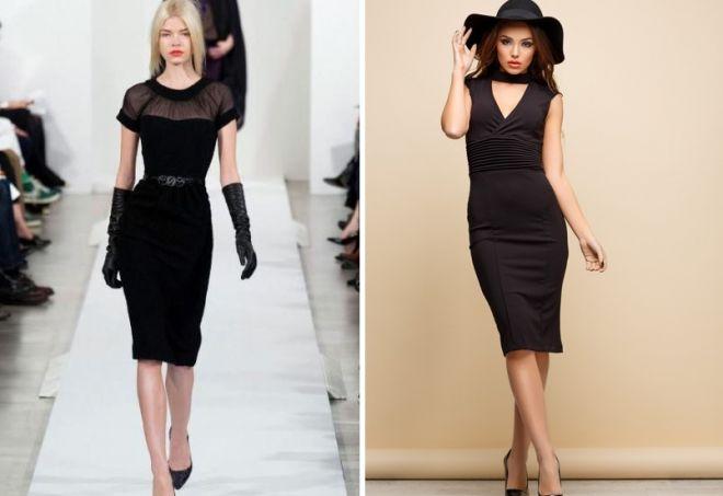 аксессуары к черному платью-футляр
