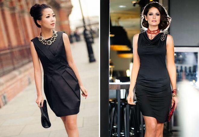 украшения под черное платье-футляр
