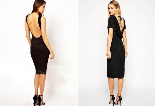 платье-футляр черного цвета