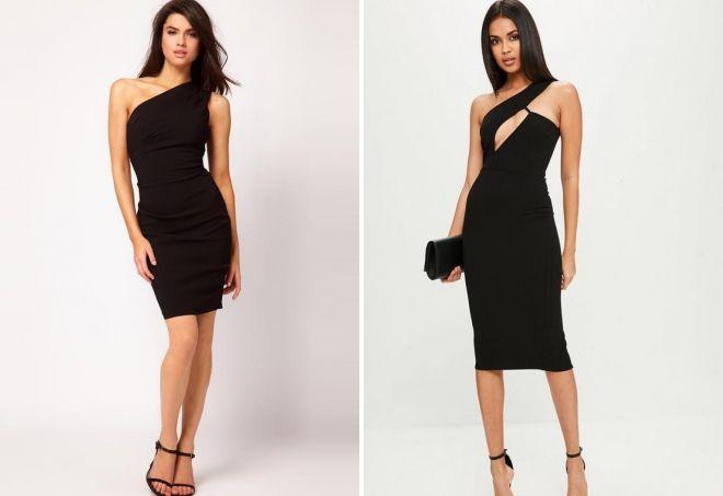маленькое черное платье-футляр