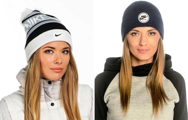 спортивные женские шапки