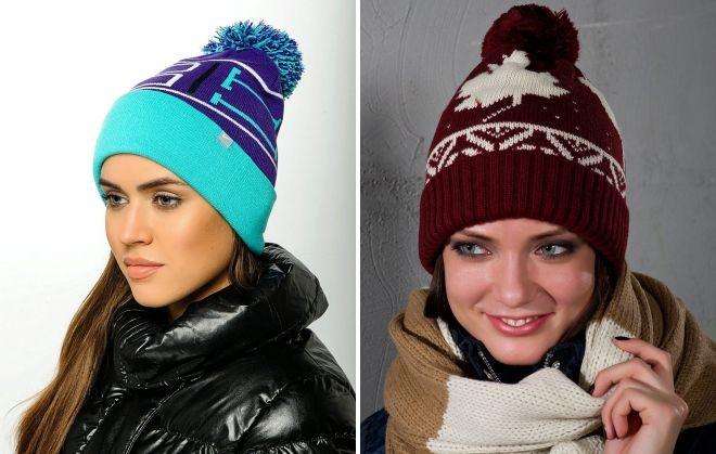 зимние спортивные шапки