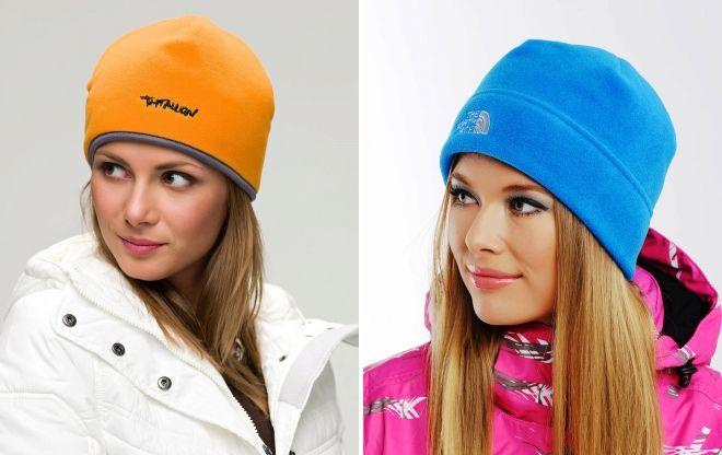 флисовые спортивные шапки