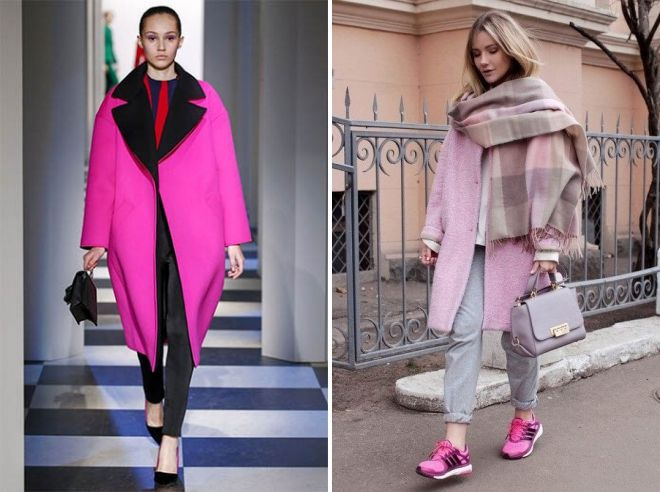 what to wear pink oversized coat
