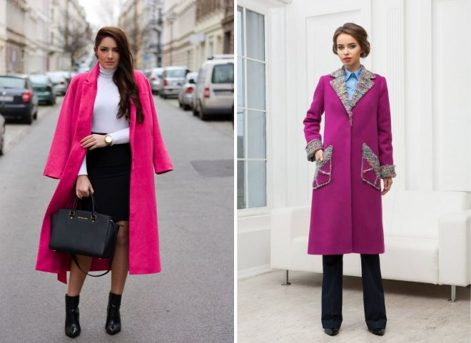 winter women's pink coat