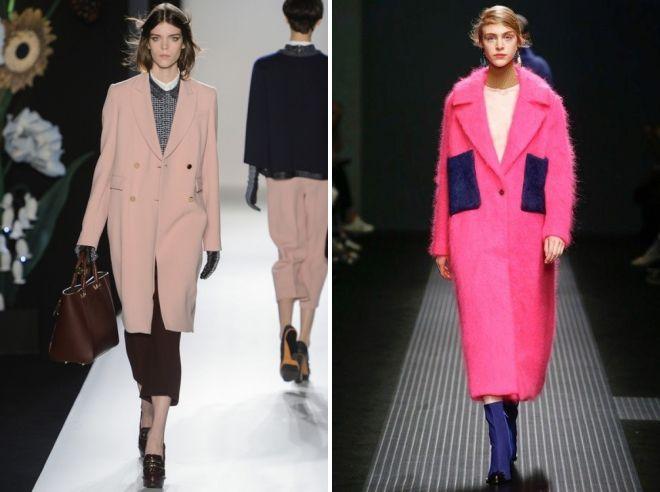 розовое пальто кокон