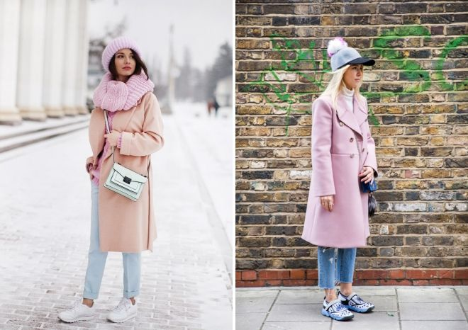 hat to pink coat