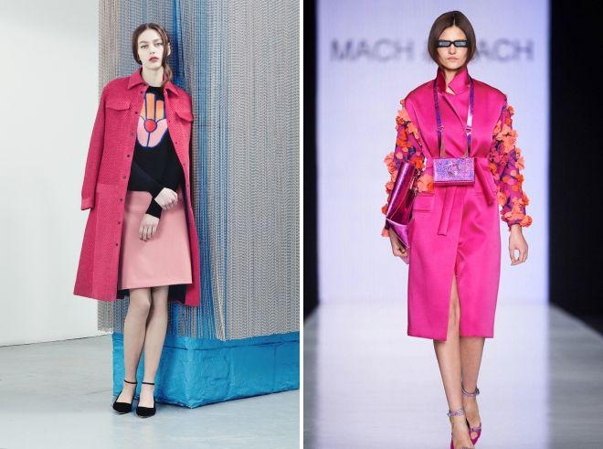 розовое пальто 2019