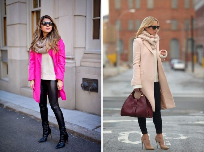 what scarf fits a pink coat