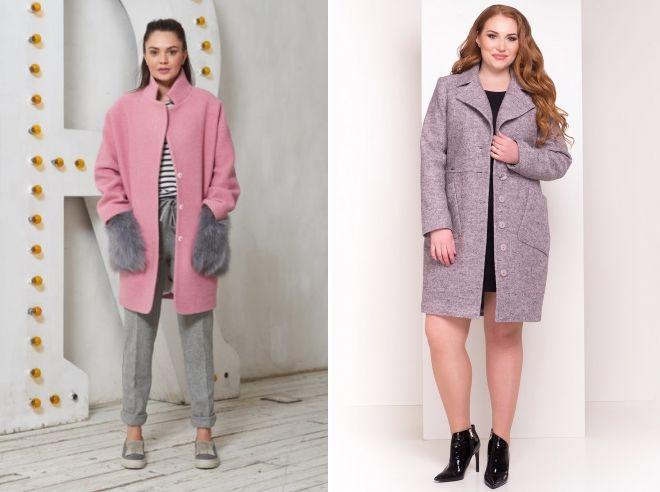 серо розовое пальто