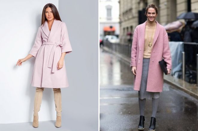 what to wear pink women's coat