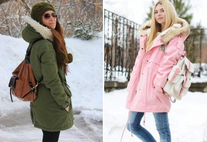 какую сумку носить с паркой зимой
